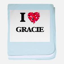 I Love Gracie baby blanket
