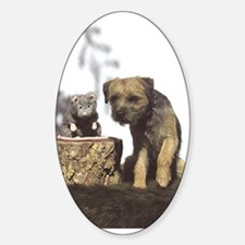 Border Terrier and Rat Decal
