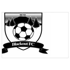Blackout FC Framed Print