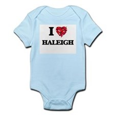 I Love Haleigh Body Suit