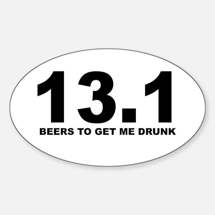 13.1 Beers to Get Me Drunk Decal