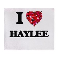 I Love Haylee Throw Blanket
