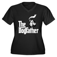 Schnauzer Women's Plus Size V-Neck Dark T-Shirt