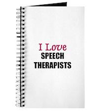 I Love SPEECH THERAPISTS Journal