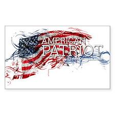 American Patriot Sticker (rectangle 10 Pk)