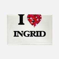 I Love Ingrid Magnets