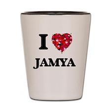 I Love Jamya Shot Glass