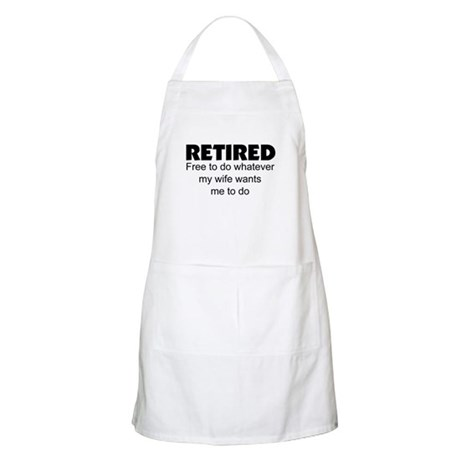 retired apron - Cooking Aprons