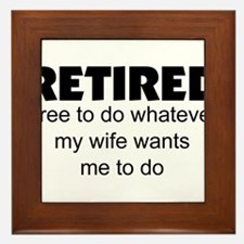 Retired Framed Tile
