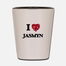 I Love Jasmyn Shot Glass