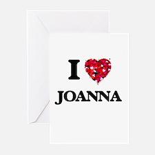 I Love Joanna Greeting Cards