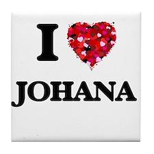 I Love Johana Tile Coaster