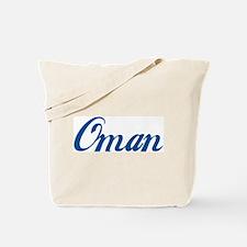 Oman (cursive) Tote Bag
