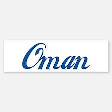Oman (cursive) Bumper Bumper Bumper Sticker