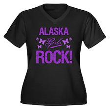 Alaska Girls Women's Plus Size V-Neck Dark T-Shirt