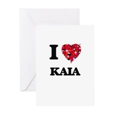 I Love Kaia Greeting Cards
