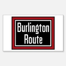 Burlington Route Rectangle Decal