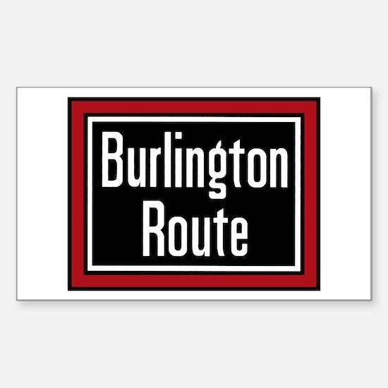 Burlington Route Rectangle Decal