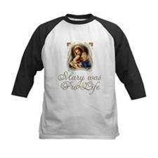 Mary was Pro-Life (vertical) Baseball Jersey
