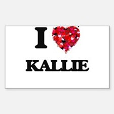 I Love Kallie Decal