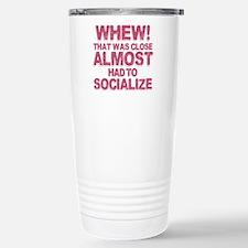 Introvert Social Anxiet Stainless Steel Travel Mug