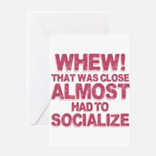 Introvert Social Anxiety Humor Greeting Cards