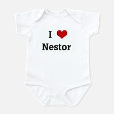 I Love Nestor  Infant Bodysuit
