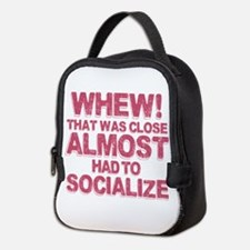Introvert Social Anxiety Humor Neoprene Lunch Bag