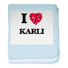 I Love Karli baby blanket