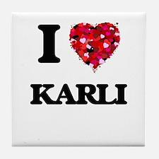 I Love Karli Tile Coaster