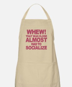 Introvert Social Anxiety Humor Apron