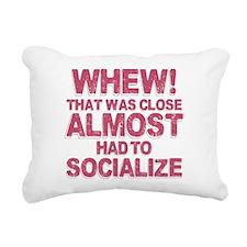 Introvert Social Anxiety Rectangular Canvas Pillow