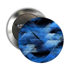 """Abstract geometric blue 2.25"""" Button (10 pack)"""