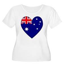 Australia Flag Heart 2 T-Shirt