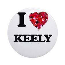 I Love Keely Ornament (Round)