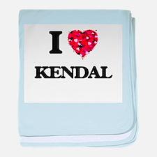 I Love Kendal baby blanket