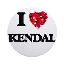 I Love Kendal Ornament (Round)