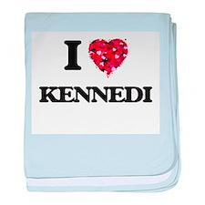 I Love Kennedi baby blanket