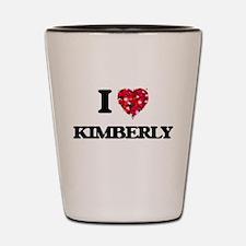 I Love Kimberly Shot Glass