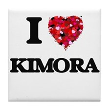 I Love Kimora Tile Coaster