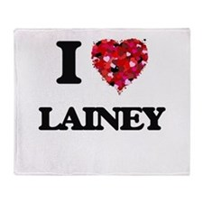 I Love Lainey Throw Blanket