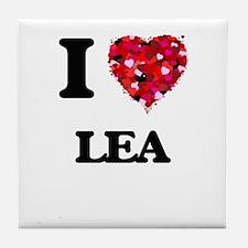 I Love Lea Tile Coaster