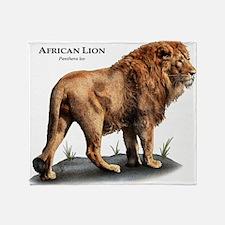 African Lion Throw Blanket