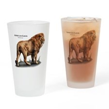 African Lion Drinking Glass