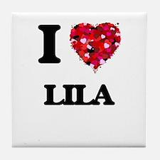I Love Lila Tile Coaster