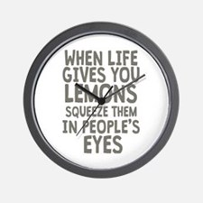 Life Gives You Lemons Wall Clock