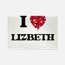 I Love Lizbeth Magnets