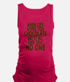 Life Gives You Chocolate Maternity Tank Top