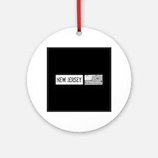 U.S. Flag: New Jersey Ornament (Round)