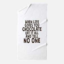Life Gives You Chocolate Beach Towel